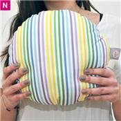 Coussin rond Rayures de plage